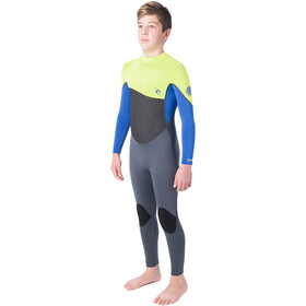 Rip Curl Omega Back Zip Suit Boys lime
